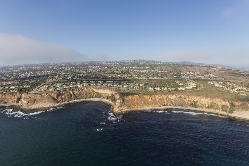 Rancho Palos Verdes Seashore Aerial royaltyfria bilder