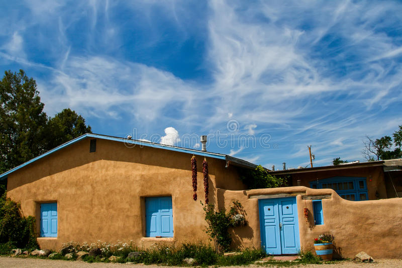 Ranchos de Taos i nytt - Mexiko arkivfoto