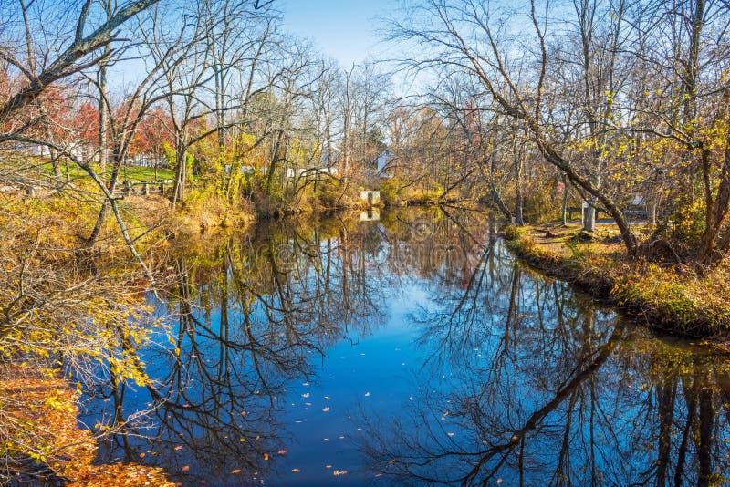 Rancocas Creek Reflections royalty free stock images