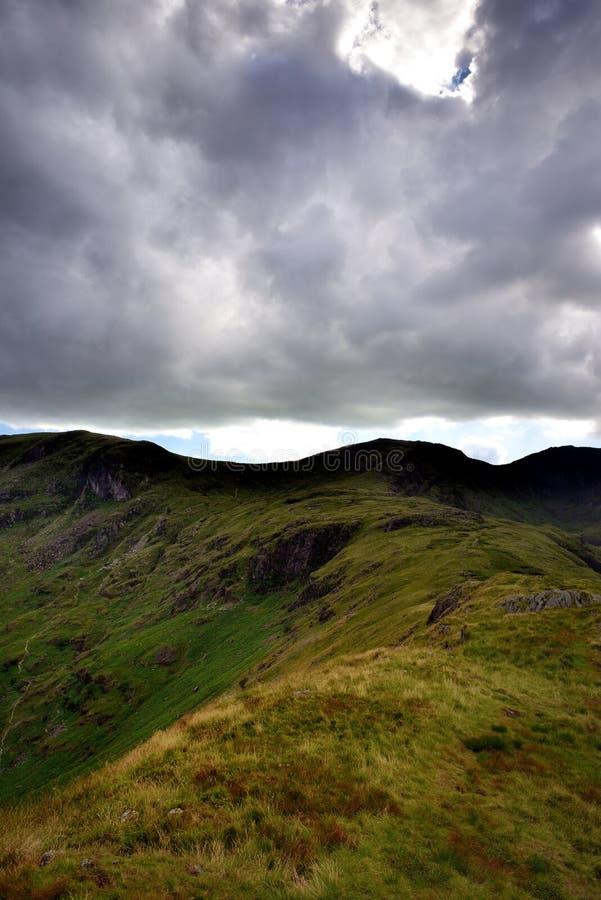 Rand aan Hart Crag van Hartsop boven hoe royalty-vrije stock afbeeldingen