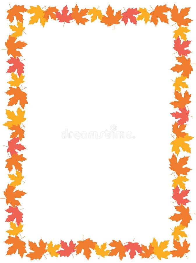 Rand der Herbst-Blatt-[Ahornholz] lizenzfreie abbildung
