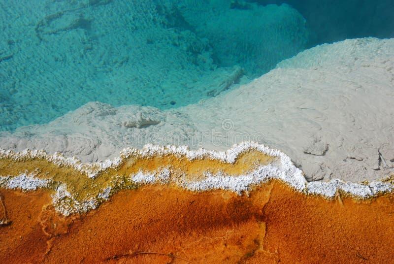 Rand des Geysir-Pools stockfotografie