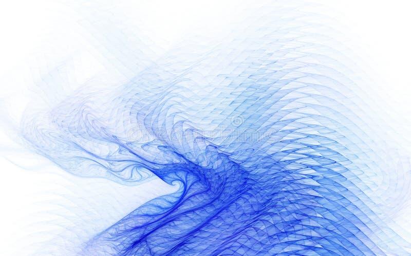 Rand-Effekte - vibrierende Wellenform lizenzfreie abbildung