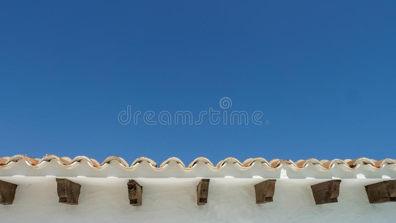 Rand eines Dachs lizenzfreies stockfoto