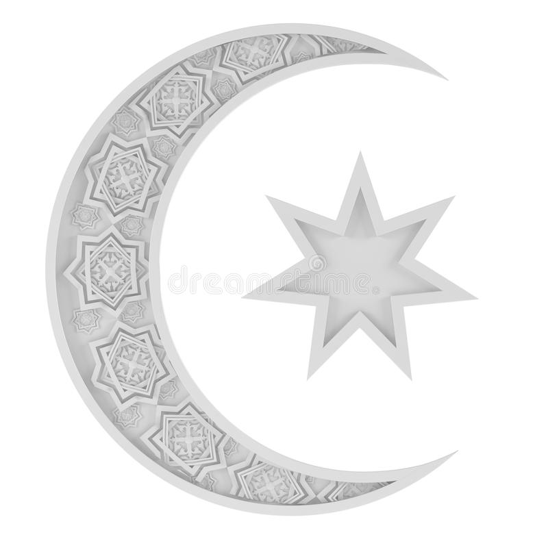 Rand Islamitisch symbool vector illustratie