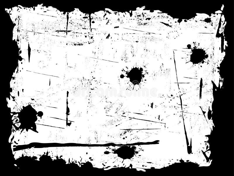 Rand mit weißem Hintergrund lizenzfreie abbildung