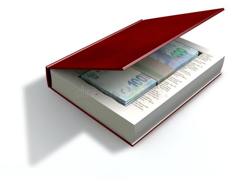 Rand Notes In celato una parte anteriore del libro royalty illustrazione gratis