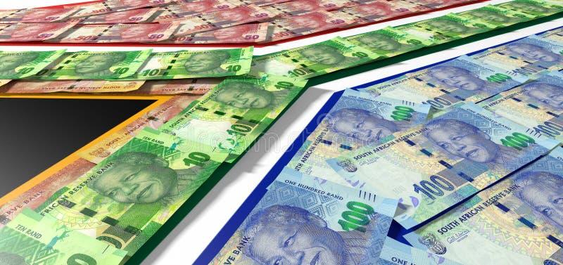 Rand Notes Flag sudafricano immagine stock libera da diritti