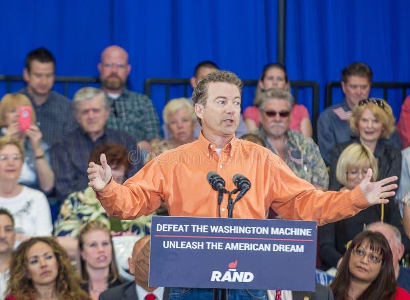 Rand Paul Campaigns in Las Vegas royalty-vrije stock foto