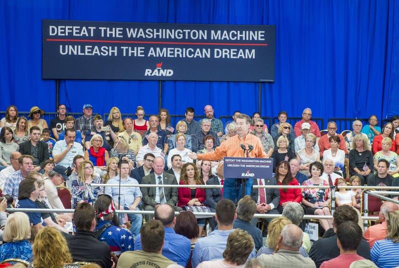 Rand Paul Campaigns in Las Vegas stock foto