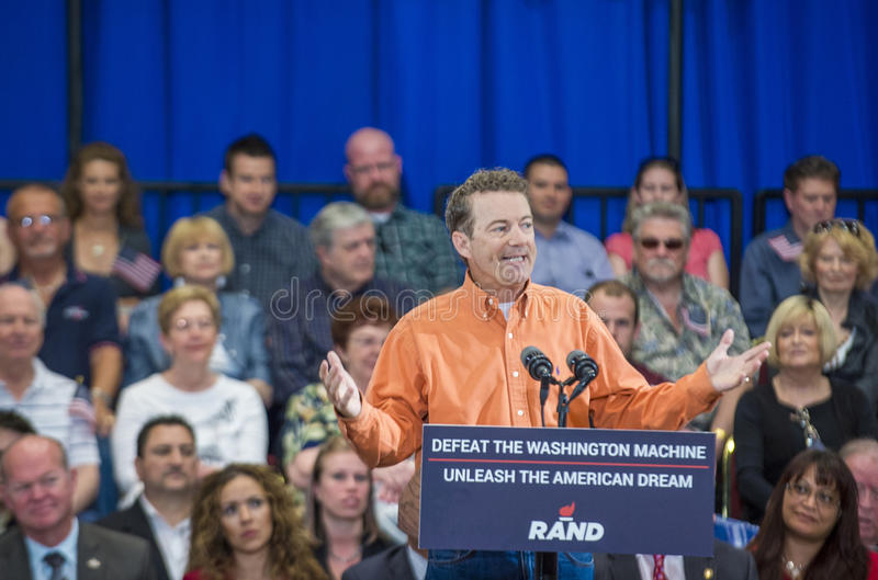 Rand Paul Campaigns in Las Vegas stock afbeelding