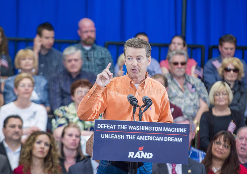 Rand Paul Campaigns in Las Vegas stock afbeeldingen