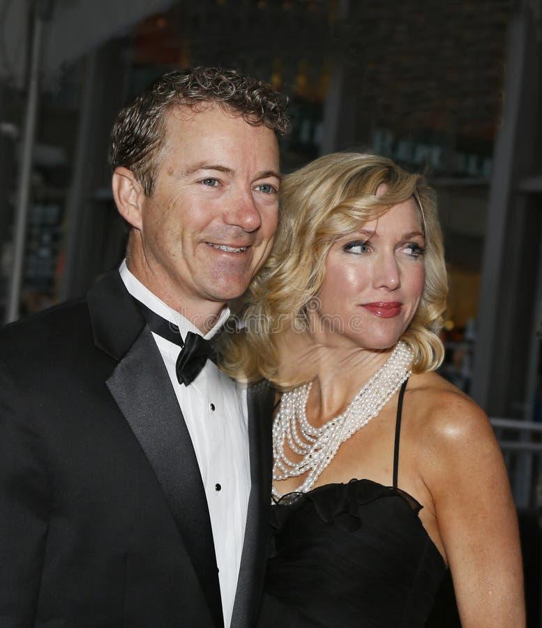 Rand Paul en Kelley Ashby royalty-vrije stock afbeelding