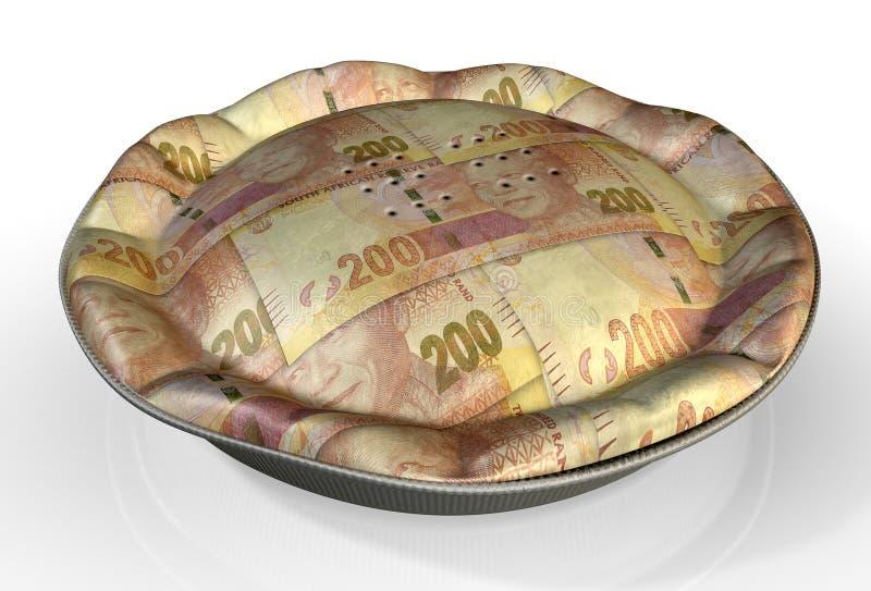 Rand sudafricano della torta dei soldi immagini stock