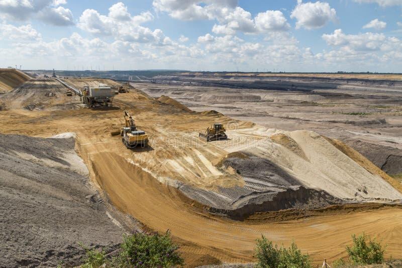Rand van bovengrondse mijnbouw stock afbeeldingen