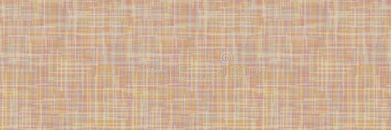 Rand van de structuurstructuur van de ruimte-geverfde linnen Naadloos patroon van breuklijn van organisch geweven textiel Homespu vector illustratie