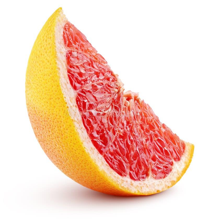 Rand van op wit geïsoleerd grapefruitfruit royalty-vrije stock afbeelding