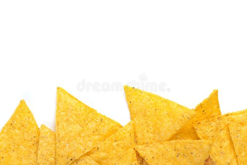 Rand van tortillaspaanders stock foto