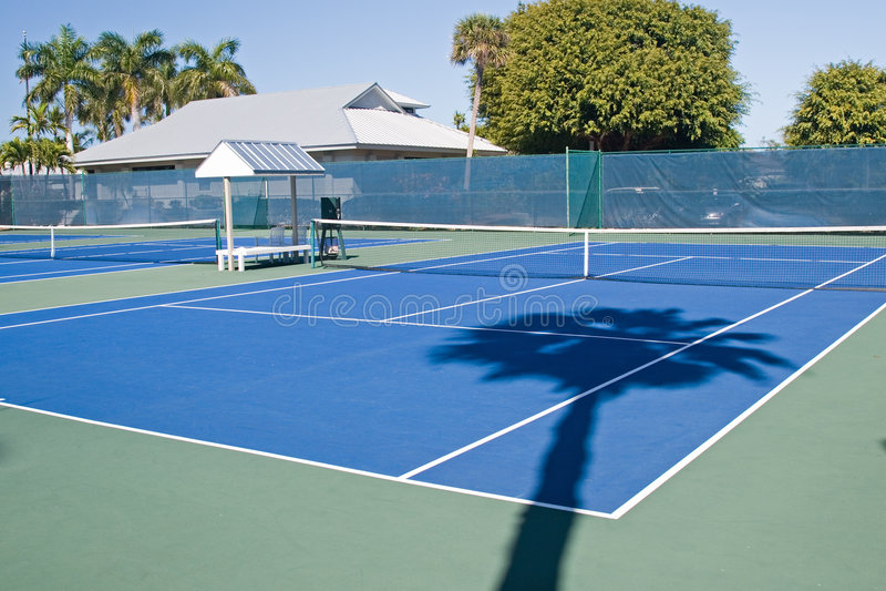 Randello di tennis del ricorso immagini stock libere da diritti