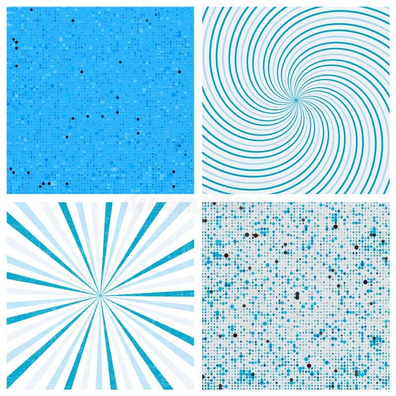 Randig abstrakt vektorbakgrund Rastrerad vektorbakgrund Vriden vektorbakgrund vektor illustrationer