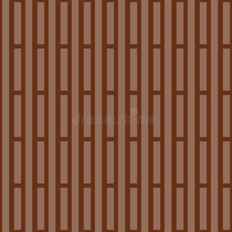 Randig bakgrund för monokrom Geometriskt tryck för tyg i bruna signaler också vektor för coreldrawillustration royaltyfri illustrationer