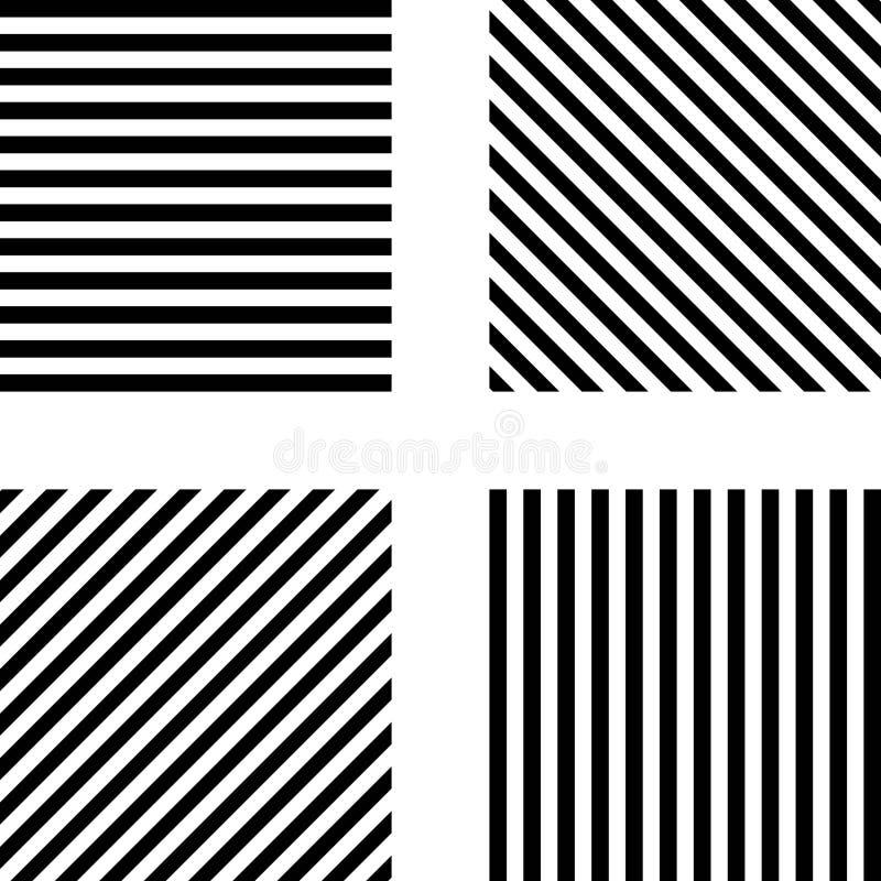 Randig fyrkantig modellmalluppsättning vektor illustrationer
