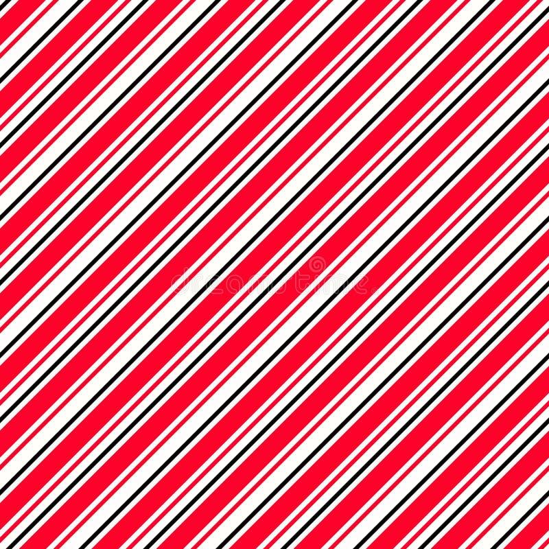 Randig röd svartvit diagonal modell Varningsbakgrund f?r farliga best?ndsdelar Upprepa den s?ml?sa vektorn vektor illustrationer