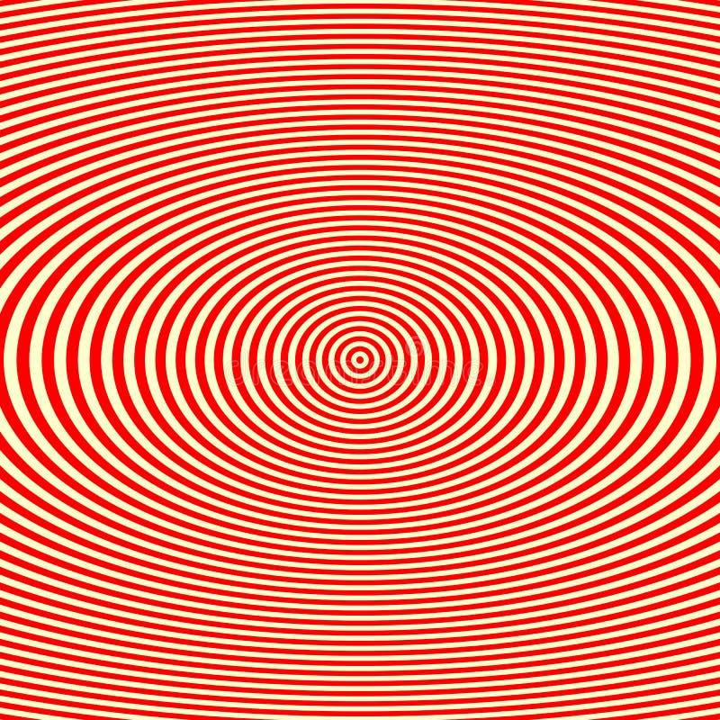 Randig röd vit modell Abstrakt bakgrund för textur för repetitionrundavågor vektor illustrationer