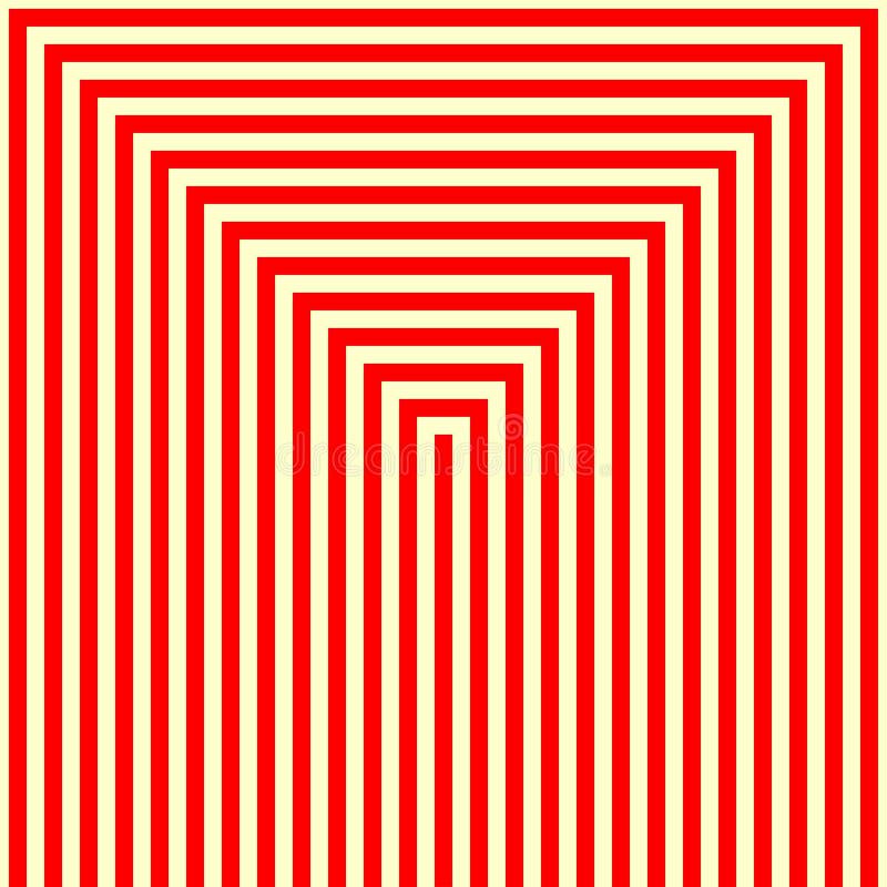 Randig röd vit modell Raka linjer geometrisk texturbakgrund för abstrakt repetition royaltyfri illustrationer