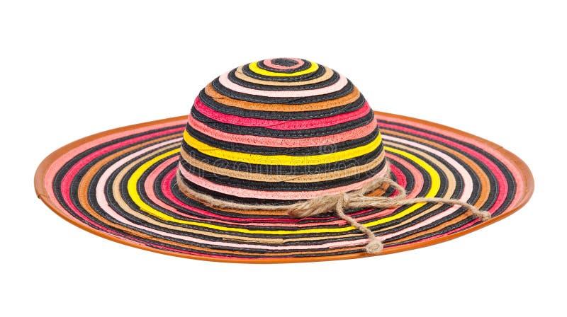 randig sun för hatt royaltyfri foto