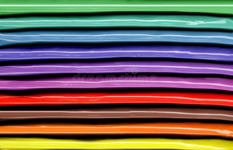 Randig textur av kulört spikar polermedel arkivfoton