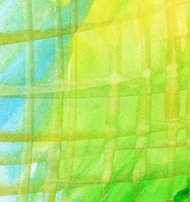 Randig vattenfärgbakgrund arkivbild