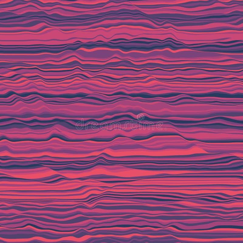 randig vektor för bakgrund abstrakt färgwaves Svängning för solid våg Skraj krullade linjer Elegant krabb textur vektor illustrationer