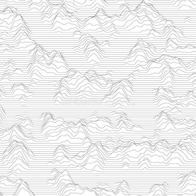 randig vektor för bakgrund Abstrakt linje vågor Svängning för solid våg Skraj krullade linjer Elegant krabb textur royaltyfri illustrationer