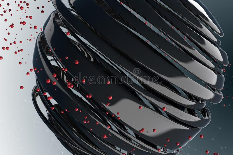 randiga dekorativa bollar 3D stock illustrationer