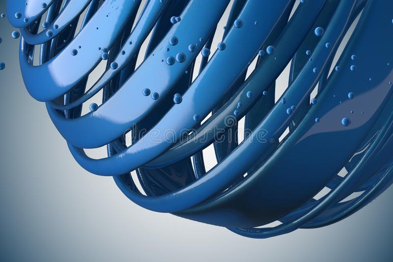 randiga dekorativa bollar 3D royaltyfri illustrationer