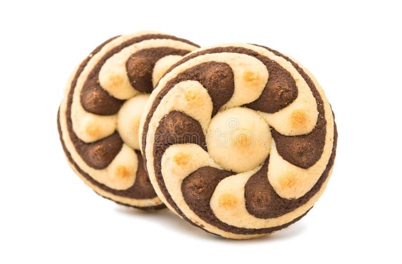 Randiga kakor för läcker choklad fotografering för bildbyråer