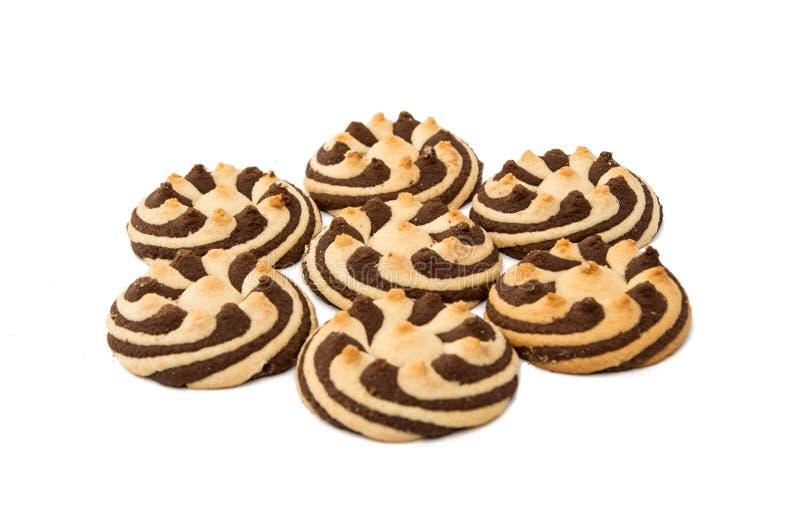 Randiga kakor för läcker choklad royaltyfri foto