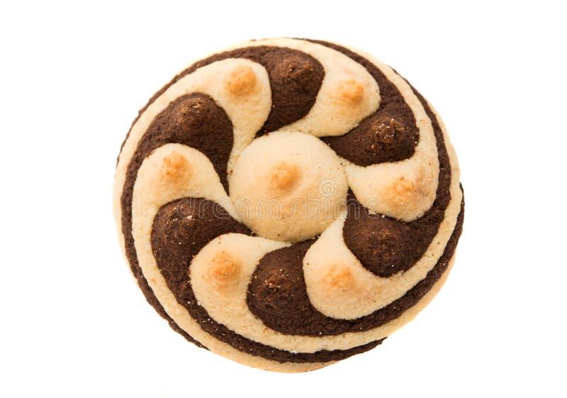 Randiga kakor för läcker choklad royaltyfri bild
