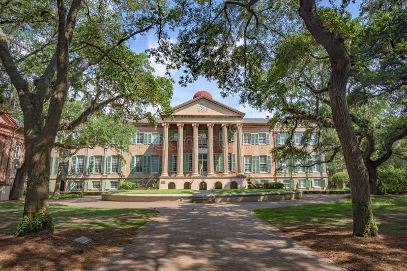 Randolph Hall, College of Charleston, SC stock photography
