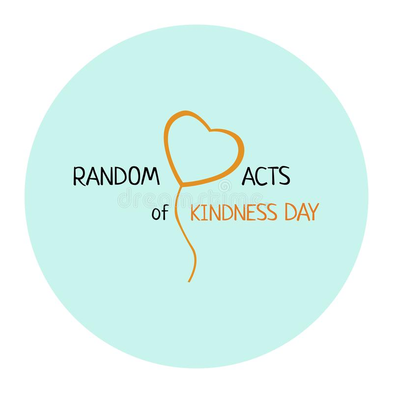 Free Random Acts Of Kindness Day Emblem Isolated Vector Illustration. World Altruistic Holiday Event Label Royalty Free Stock Image - 158949396
