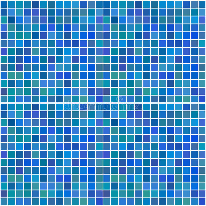 Random blue seamless tiles. Vector - Illustration of a series of random blue seamless tiles with varying hue royalty free illustration