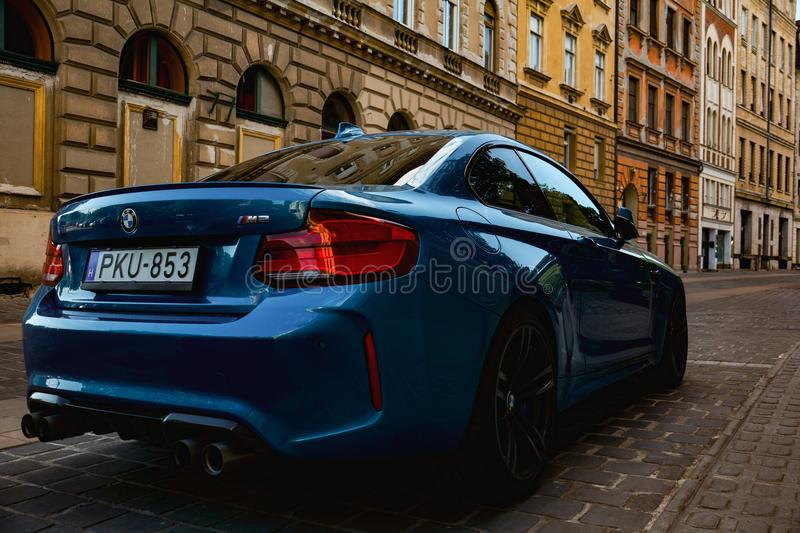 Supercar in street stock images