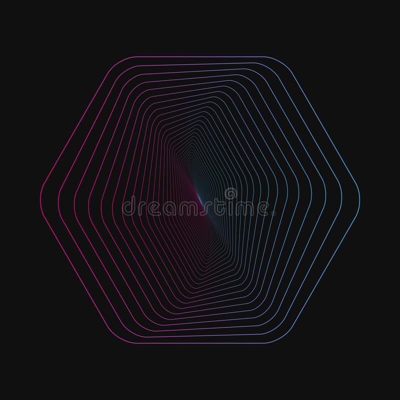 Random chaotic lines that creat real shapes. Chaos pattern, abstract texture. Order vs chaos concept. Random chaotic lines that creat real shapes. Chaos pattern royalty free illustration