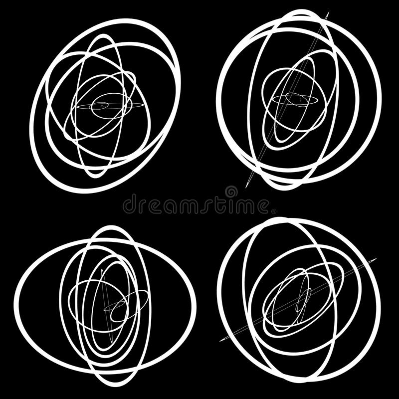 Free Random Circles, Ovals Forming Squiggly Lines. Abstract Artistic Royalty Free Stock Image - 81772726
