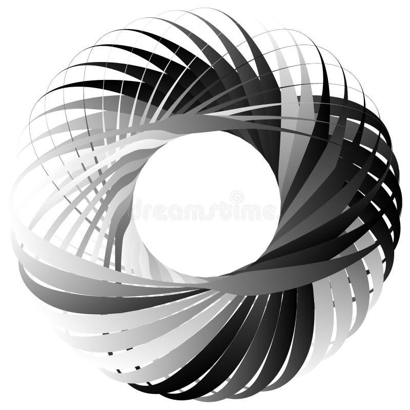 Random circular element. Abstract monochrome graphic on white. Royalty free vector illustration vector illustration