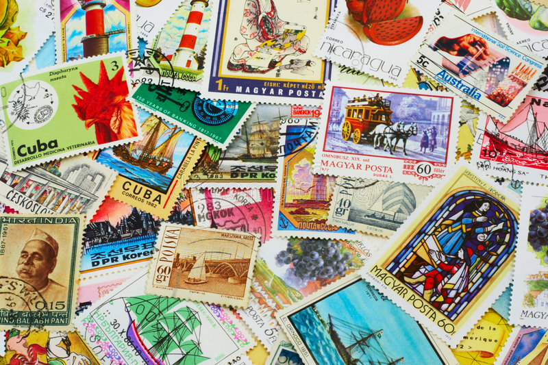Download Random Collection Of Postal Stamps Stock Image - Image of fashioned, countries: 1984263