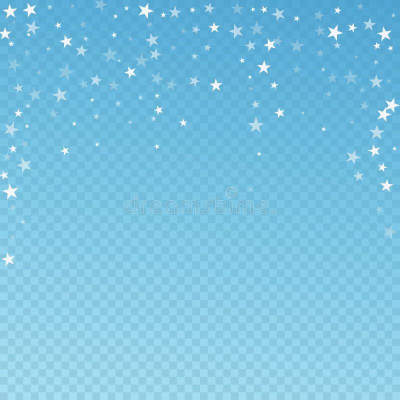 Random fallande stjärnor, julbakgrund subtil stock illustrationer