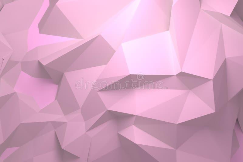 Random geometric backdrop. For graphic design or background, CGI. 3D render. stock illustration