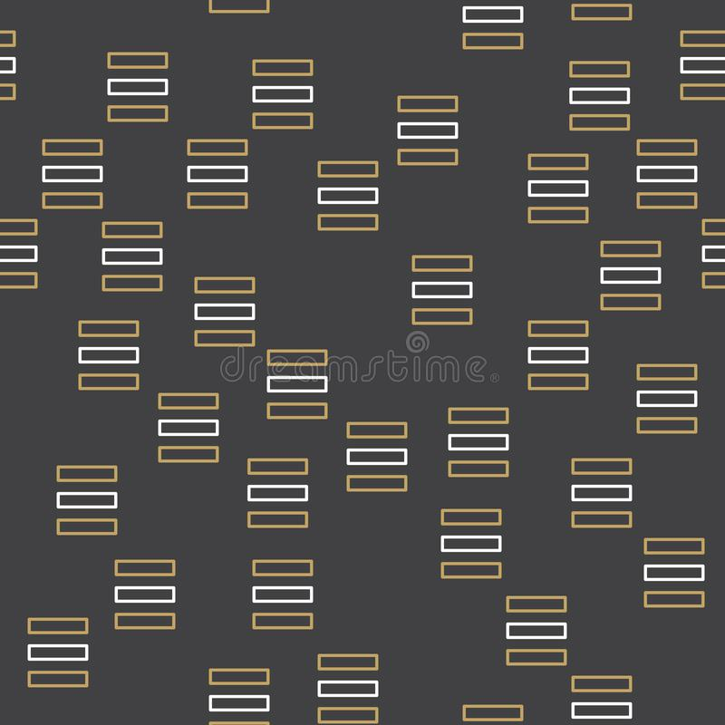 Random geometric lines pattern, abstract background in 80s, 90s retro style vector illustration